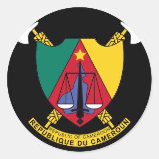 cameroon emblem runt klistermärke
