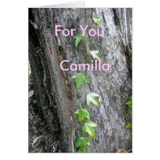 Camilla Hälsningskort