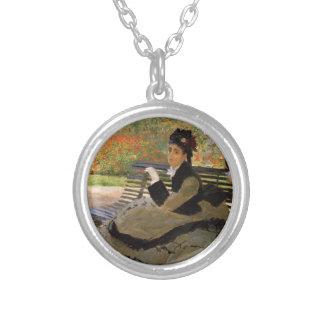 Camille Monet på en trädgård tar av planet - Silverpläterat Halsband