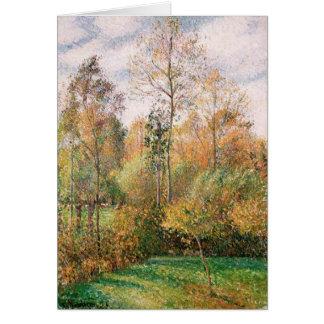 Camille Pissarro - höst, Poplars, Eragny Hälsningskort