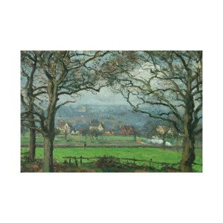Camille Pissarro - nära den Sydenham backen Canvastryck