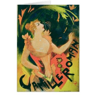 """""""Camille romare"""" (färglithoen) Hälsningskort"""