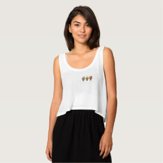 Camiseta de tirantes Ice Cream 3 Tank Top Med Flowy Crop