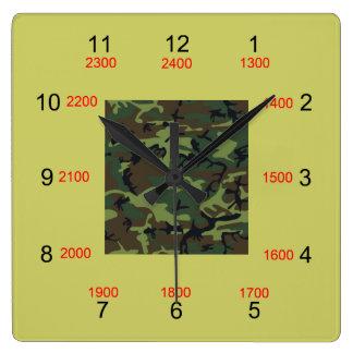 Camo centrerar den militära Time väggen tar tid på Fyrkantig Klocka