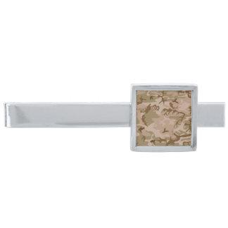 Camo för modern öken för silver militär kamouflage slipsnål med silverfinish