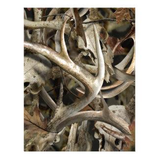 Camo hjortdöskallar brevhuvud
