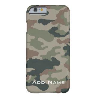 Camo mönster för jägare eller militär med namn barely there iPhone 6 skal