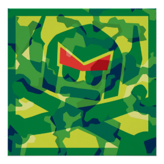 Camo svensk i grönt affisch