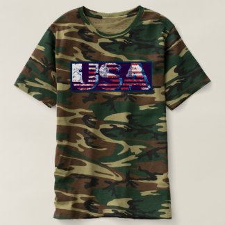 Camouflage camo hunter american patriotic t-shirt