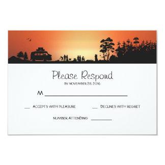 Campa bröllop OSAkort 8,9 X 12,7 Cm Inbjudningskort