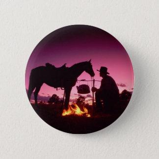 Campa för vilda western standard knapp rund 5.7 cm