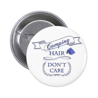 Campa hår att bry sig inte standard knapp rund 5.7 cm