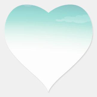 Campa platsen hjärtformat klistermärke