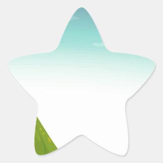 Campa platsen stjärnformat klistermärke