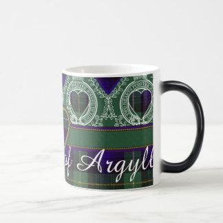 Campbell av tartanen för skott för Argyll klanpläd Morphing Mugg