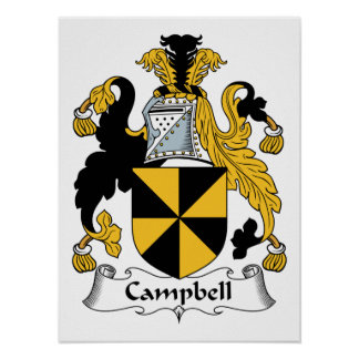 Campbell familjvapensköld poster