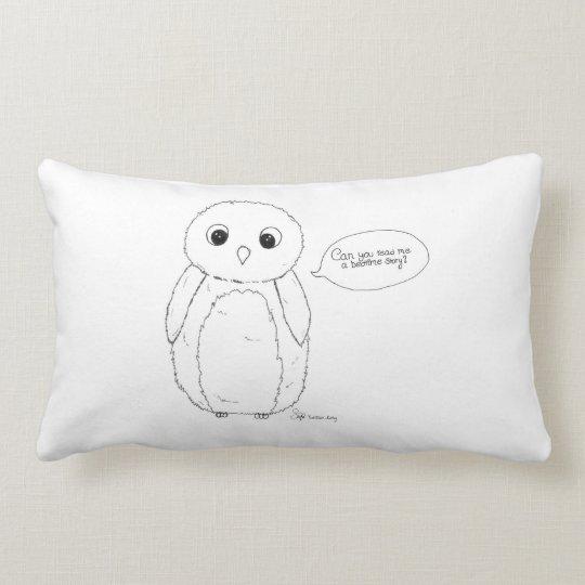 Can you read me a bedtime story? owl kudde. lumbarkudde