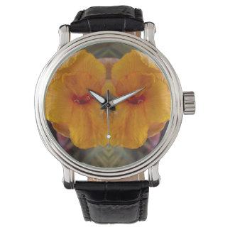 Cana blommaspegel armbandsur