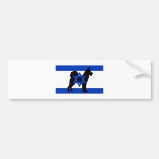 canaan hundsilhouetteflagga bildekal