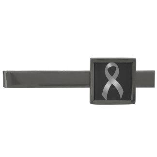 Cancer & sockersjuka för Tumor för grå Stålgrå Pläterad Slipsnål