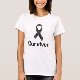 Canceröverlevandesvart T-shirts