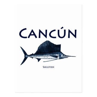 Cancun Sailfish Vykort