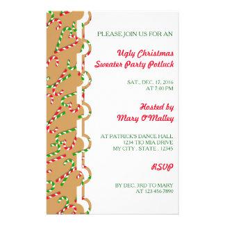 Candy cane för helgdag för jul för U-plockafärg Flygblad