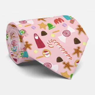 Candy cane och choklader på rosor slips