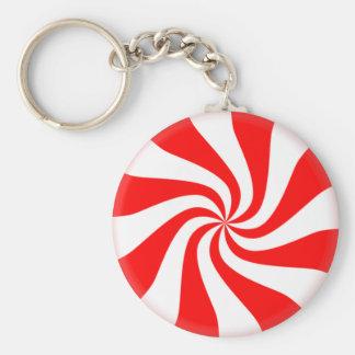 Candy cane rund nyckelring