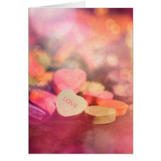 Candyheart kärlek hälsningskort