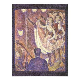 Canen kan dansa, Le Chahut av Georges Seurat 10,8 X 14 Cm Inbjudningskort