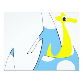 canguru 10,8 x 14 cm inbjudningskort