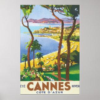 Cannes Cote d'Azur vintage resoraffisch Poster