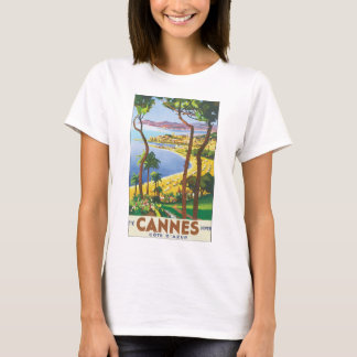 Cannes Cote d'Azur vintage resoraffisch T-shirt