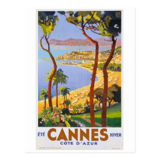 Cannes vintage resoraffisch vykort