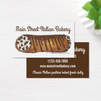 Cannoli shoppar italiensk bageribakelse bakat av visitkort