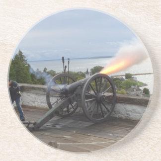 Canon avfyra underlägg sandsten