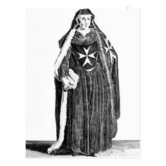 Canoness av beställa av St John av Jerusalem Vykort
