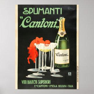 Cantoni vintage affisch poster