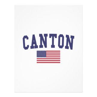CantonUS-flagga Brevhuvud