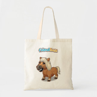 Canvas bag with pet horse budget tygkasse