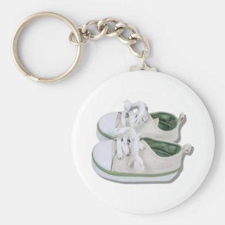 CanvasBabyShoes101610 Rund Nyckelring