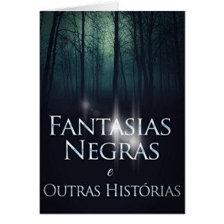 "Capa do livro ""Fantasias Negras"" de Joel Puga Hälsningskort"