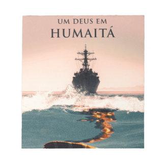 """Capa gör livro""""Um Deus em Humaitá """", Anteckningsblock"""