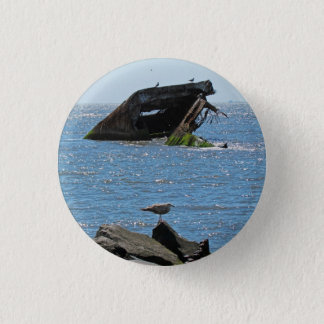 Cape May skeppsbrott Mini Knapp Rund 3.2 Cm