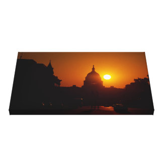 Capitol Hill solnedgång Canvastryck