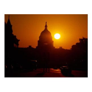 Capitol Hill solnedgång Vykort