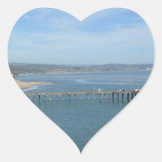 Capitola CA Hjärtformat Klistermärke