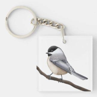 Capped Chickadeefågel Keychain för vänskapsmatch