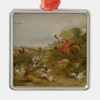 Capping på hundar, ungkarl Hall, 1836 (olja på c Julgransprydnad Metall